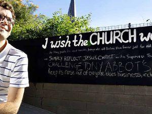 Abbott hits the wall at city church