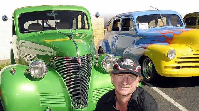 PROUD OWNER: Adrian Dehoon, of Woodburn, with his 1939 Chev.