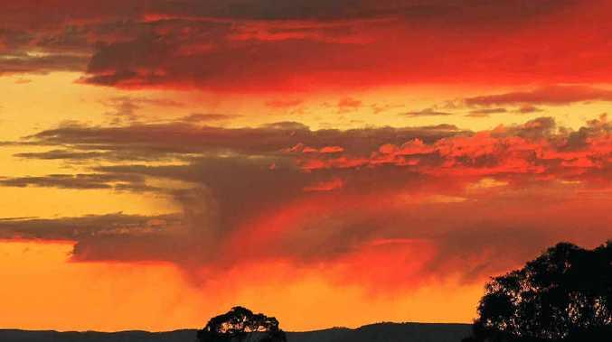 SPECTACULAR: A colourful sunrise on Sunday morning.