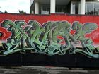Graffiti covers a wall in Bay St, Tweed Heads. Photo: John Gass / Daily News