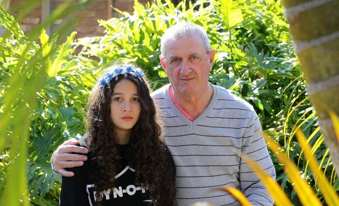 One Nation candidate for Fairfax, Mike Holt, claims his daughter Michelle, 13, was bullied and has had to be pulled out of school. Photo: Brett Wortman / Sunshine Coast Daily