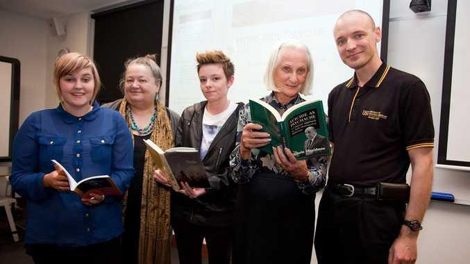 Eleasha Mitchell, Marianne Lawson, Rhiannon Beard, Dorothy Ratnarajah and USQ lecturer Nathan Beel at last month's workshop on suicide at USQ Fraser Coast.