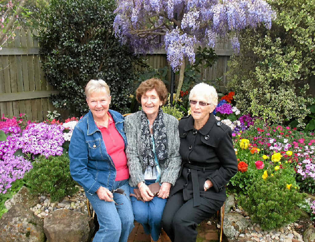 BLOOMING GOOD: Cancer Council Queensland Gladstone Branch is organising a fundraising trip to the Toowoomba Carnival of Flowers. Vicki Olsen, Maureen Edwards and Nola Anderson pictured at last year's event.