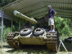 Centurion Tank in aciton.