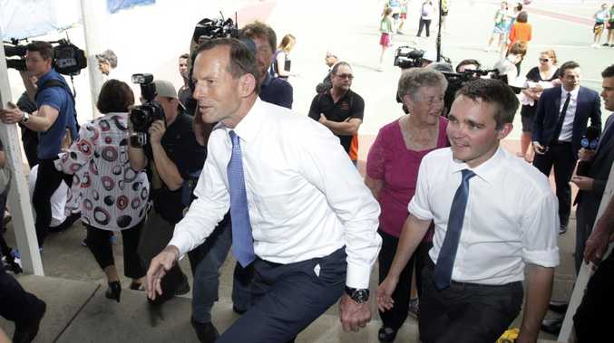 Tony Abbott... on the way up in the polls.