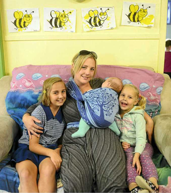 Kylie Metcalfe with three of her children, Zahara, Braxton and Bree-anna.