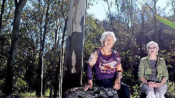 JOIN US: Lismore Rainforest Botanic Gardens publicity officer Marie Matthews and work organiser Pat Offord enjoy the peace of the gardens.
