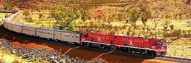 The Ghan winds through the famed Red Centre.