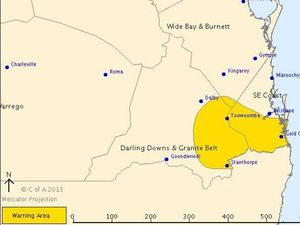 Severe thunderstorm warning issued for Ipswich