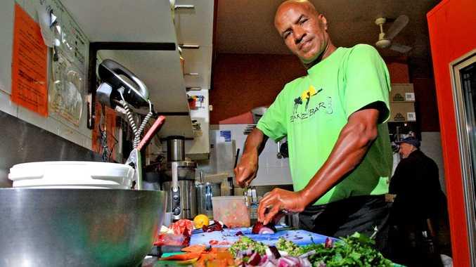 Alex Kamaoui in his kitchen at Zanzibar in Kingscliff.