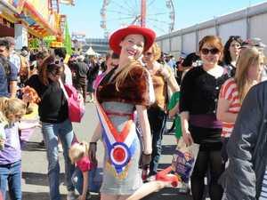 Donna struts her stuff as Queensland's Miss Showgirl