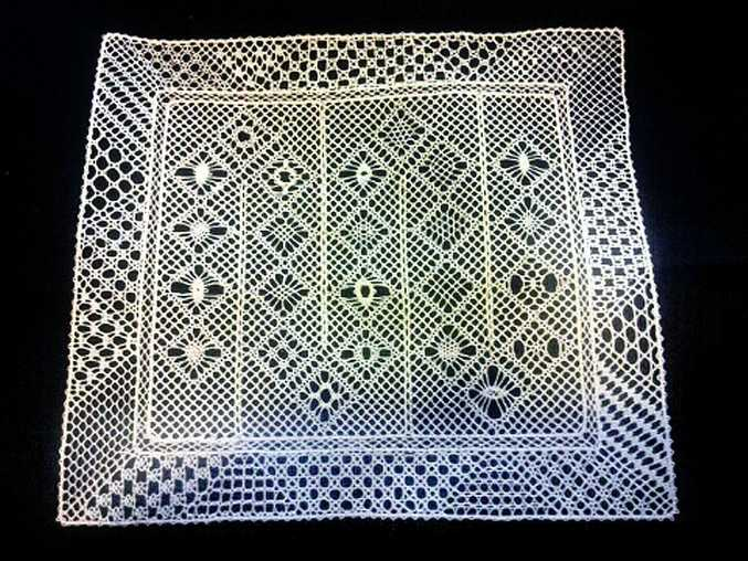 Luise Putzmann's intricate lace work.