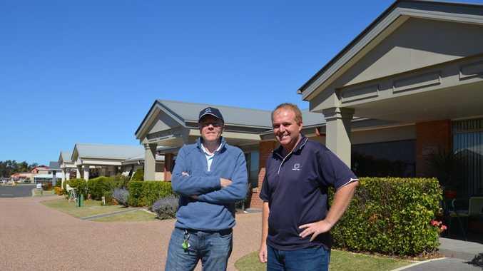 Regency Park co-developer Marcus Barlow and village manager Chris Newley.
