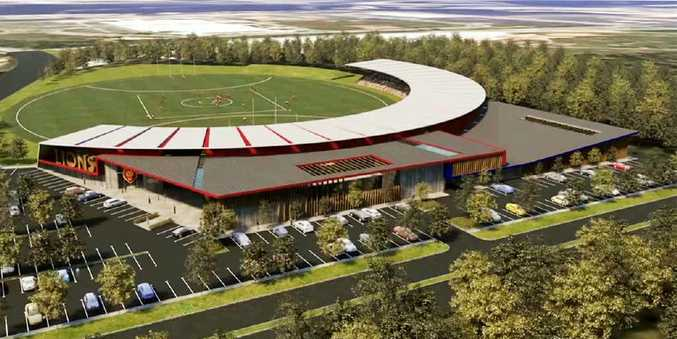An artist's impression of the new Lions centre at Springfield.