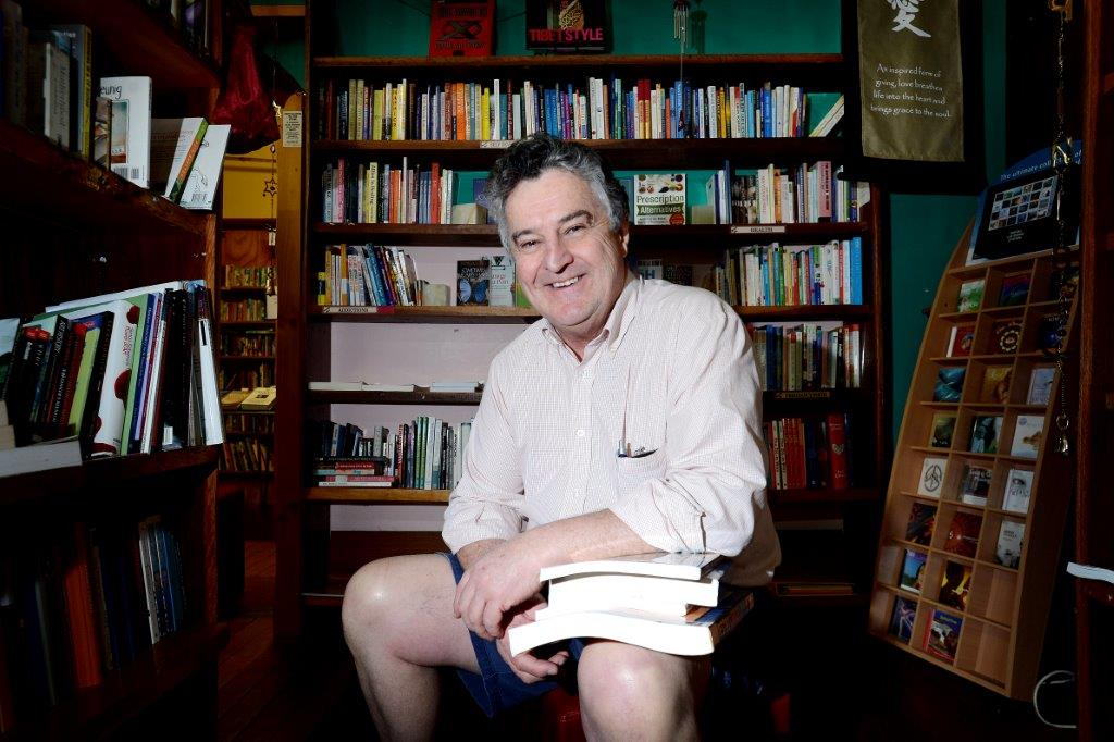 The new owner of Noah's Arc Bookstore on Magellan St, Lismore, Luke Gooley