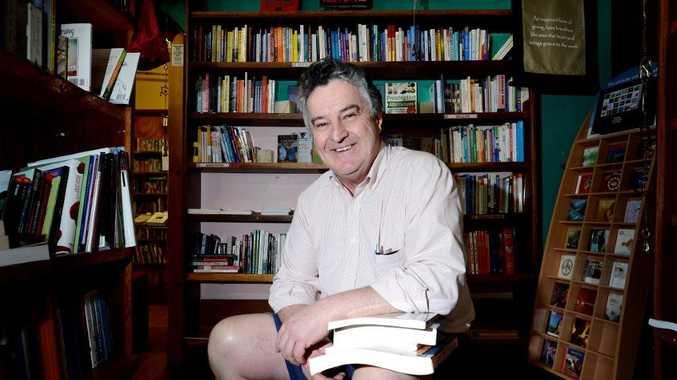 The new owner of Noah's Arc Bookstore on Magellan St, Lismore, Luke Gooley