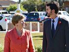 Australian Greens leader Christine Milne helps launch Dawson candidate Jonathan Dykyj's campaign.