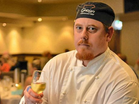 Chef Lance Carter at the six-course degustation dinner with wine pairing at Harvey Road Tavern.