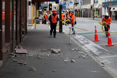 Earthquake in Wellington, New Zealand.
