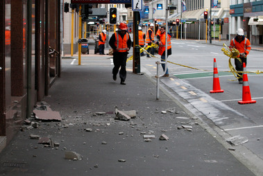 Earthquake in Wellington, New Zealand.