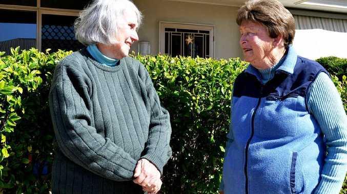 Anne Sinnamon and Norma Wenham enjoy being seniors.
