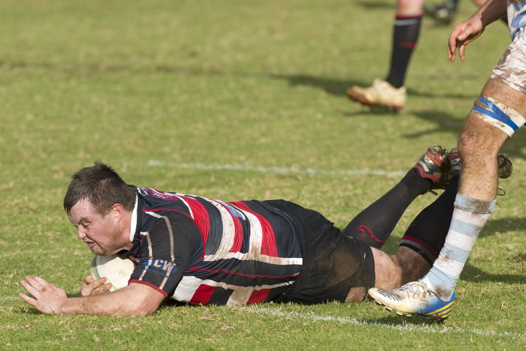 Darren Breen crossed for one of five Toowoomba Rangers tries today against UQ Highfields in their Risdon Cup elimination semi-final.