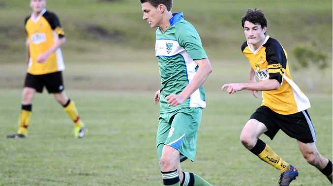 FAST GAME: Bobcat centre midfielder Daley Durrant playing in round 14 of the North Coast Football match against Westlawn Tigers at Barnier Park, Junction Hill. PHOTO DEBRAH NOVAK