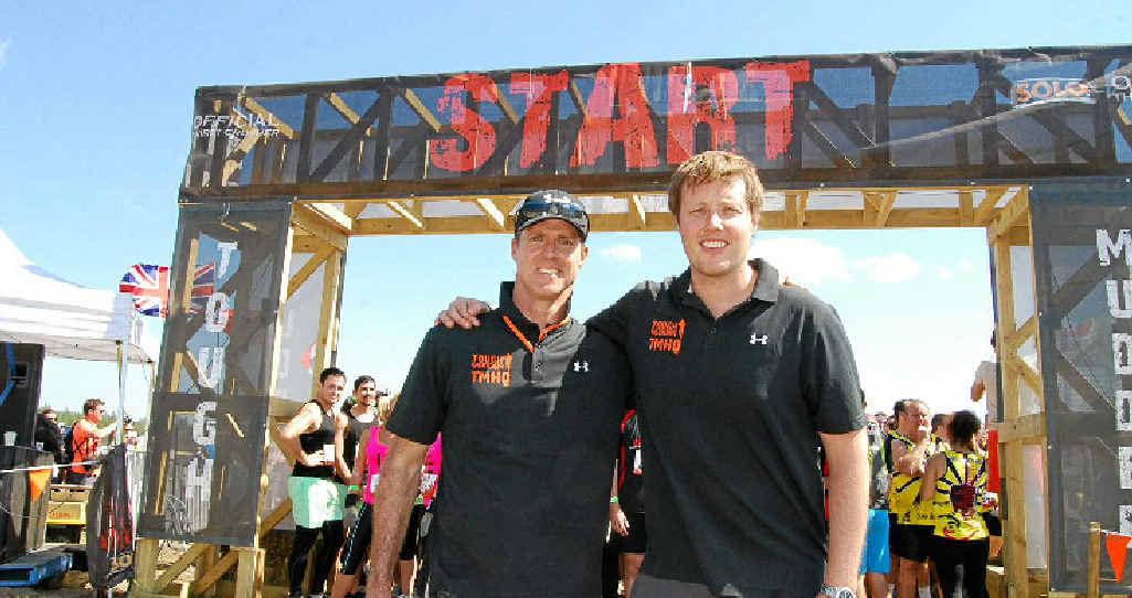 BIG START: Tough Mudder founder Will Dean (right) with Drew Ward.