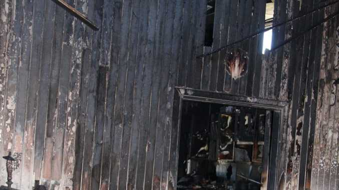 Firefighters were unable to save this Warwick home.