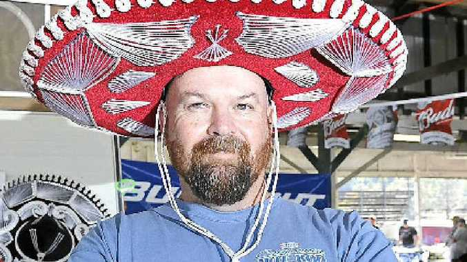 NICE HAT: Tony Salisbury at the Borderline Street Rodders swap meet at the Lismore Showground.