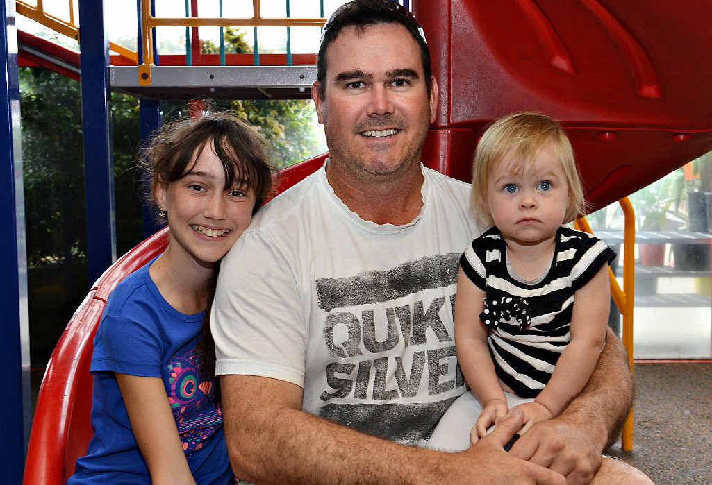 Ross McNichol with his children Holli McNichol-Black and Alleyah McNichol.