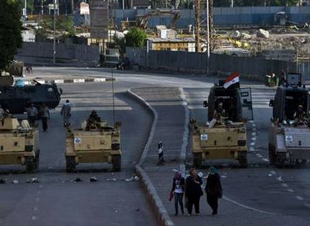 The war torn streets of Egypt