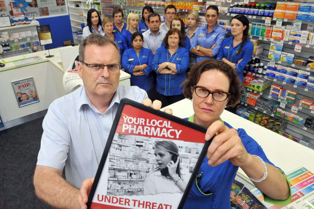 BACKPEDAL: Coral Coast Pharmacy owners David Holmes and Annabelle Hirst are angry and concerned with the Federal Governments move which dishonours the Fifth Community Pharmacy Agreement. Photo: Max Fleet / NewsMail