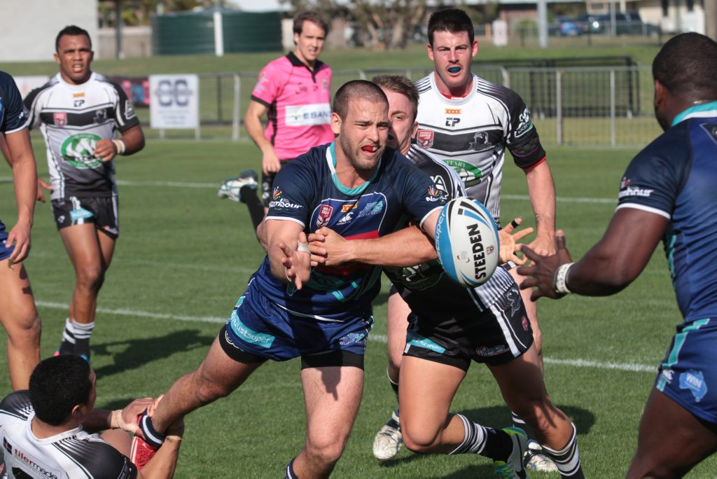 Sea Eagles player Rowan Klein in game against Souths Logan. Photo Darryn Smith / Sunshine Coast Daily