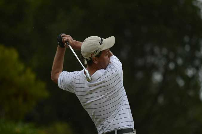 Paul Leonard of Grafton was hitting off in the Holden Challenge at the Grafton Golf Course on Saturday. Photo Debrah Novak / The Daily Examiner