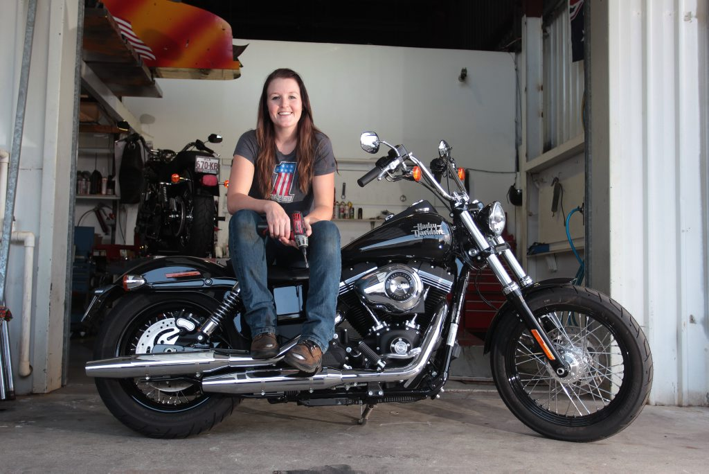 Mechanic Katie Elliott from Harley Davidson in Maroochydore won the Australian Harley Davidson franchisee's apprentice of the year.