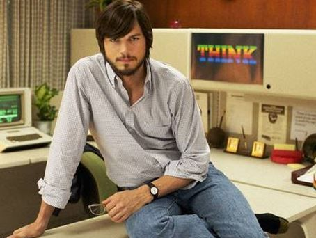 Ashton Kutcher as Steve Jobs.