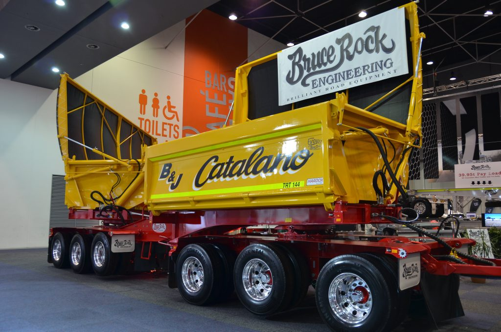 This Bruce Rock engineering trailer display turned a few heads at the Perth Truck and Trailer Show. Photo Carly Morrissey / Big Rigs