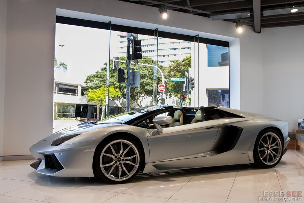 The 2013 Lamborghini Aventador LP700-4 Roadster.