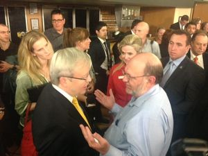 Tony Abbott tells Kevin Rudd to shut up