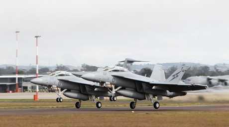 Super Hornet jets.