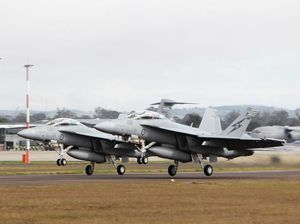 Super Hornets from Amberley behind earth-rattling night