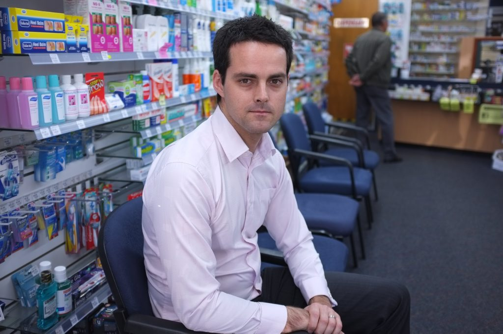 NOT GOOD: Pharmacist and manager Campbell Gradon is unhappy that the Government reneged on it's deal with the Pharmacy Guild. Photo: Mike Knott / NewsMail