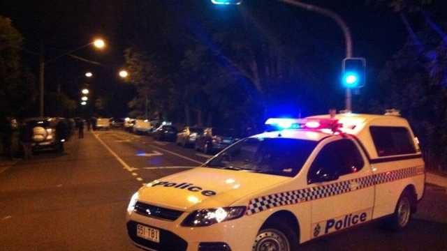 Police at the scene of a Coolum Beach shooting where a man and a woman was found dead. Photo: Ten News/Twitter