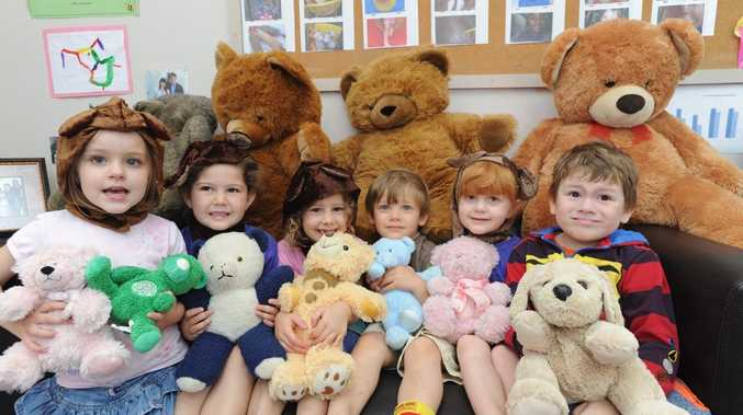 Lily, Bronte, Charlee, Baxter, Sophie and Jedd are ready for Condy Park Kindergarten's Teddy Bears Picnic.