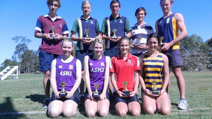 This year's Fraser District Secondary Schools Athletics Championships age champions.