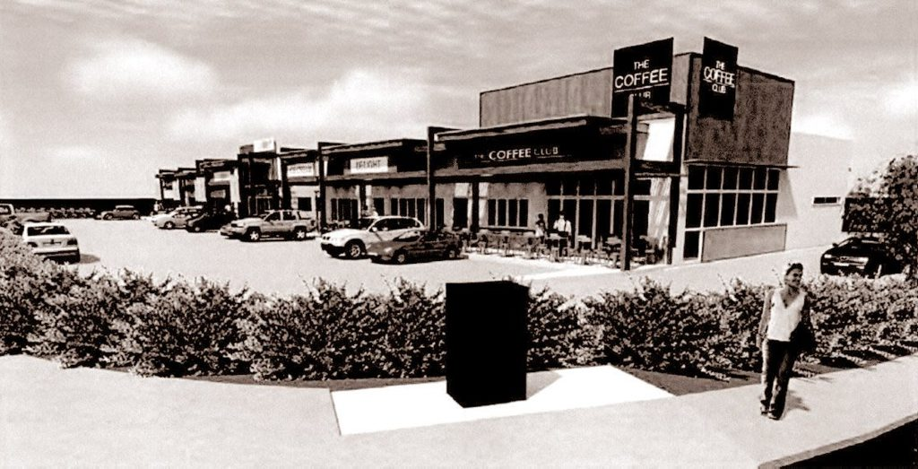 An artist's impression of the planned fast food precinct.