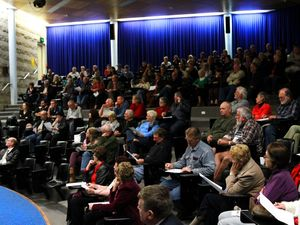 Emotions run high at community flood forum