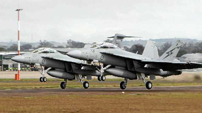STING FELT: Residents were startled when Super Hornet jets from RAAF Base Amberley conducted intercept training in airspace over the Toowoomba region.