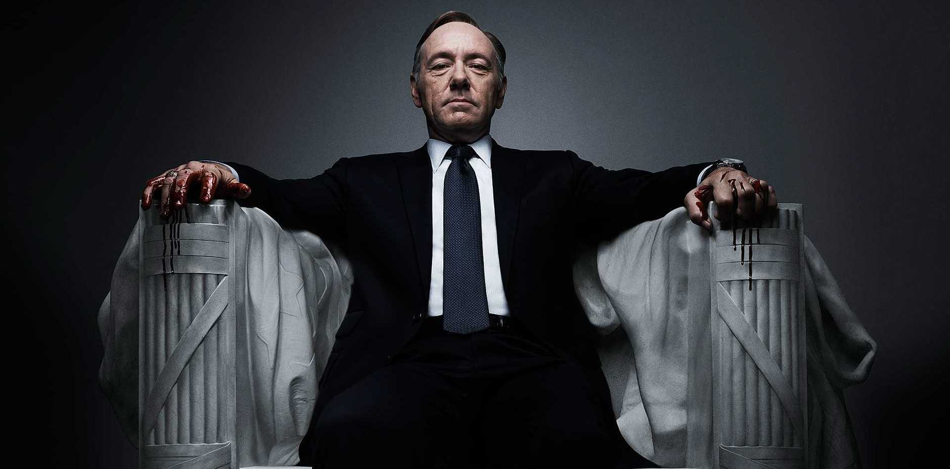 Kevin Spacey in critically-acclaimed Netflix drama House of Cards.